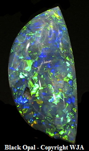 Black Opal, Gemology Tools Professional